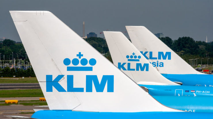 KLM reports a 54% drop in passenger numbers for March